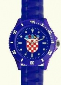 Wristwatch with Croatian coat of arms